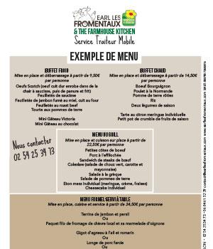 Sample Catering Menus